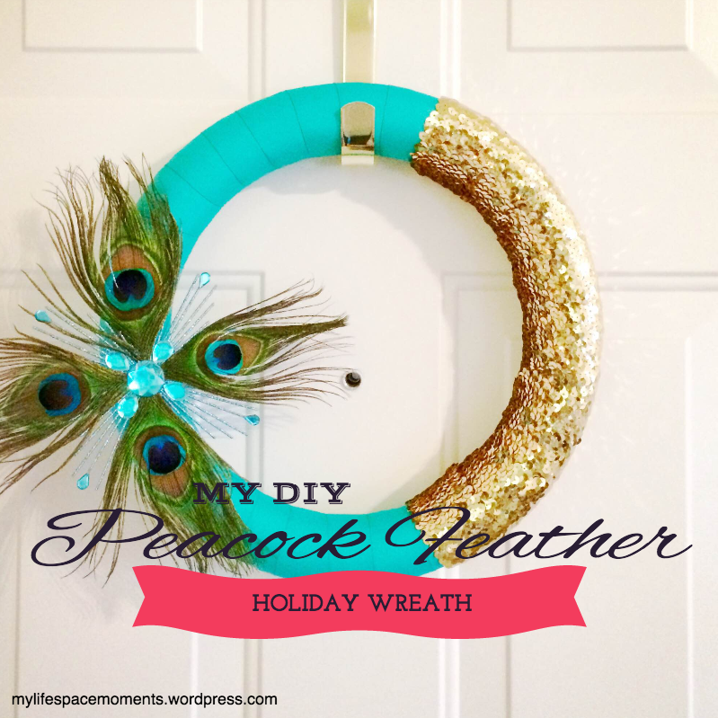 {My DIY Peacock Feather Holiday Wreath}