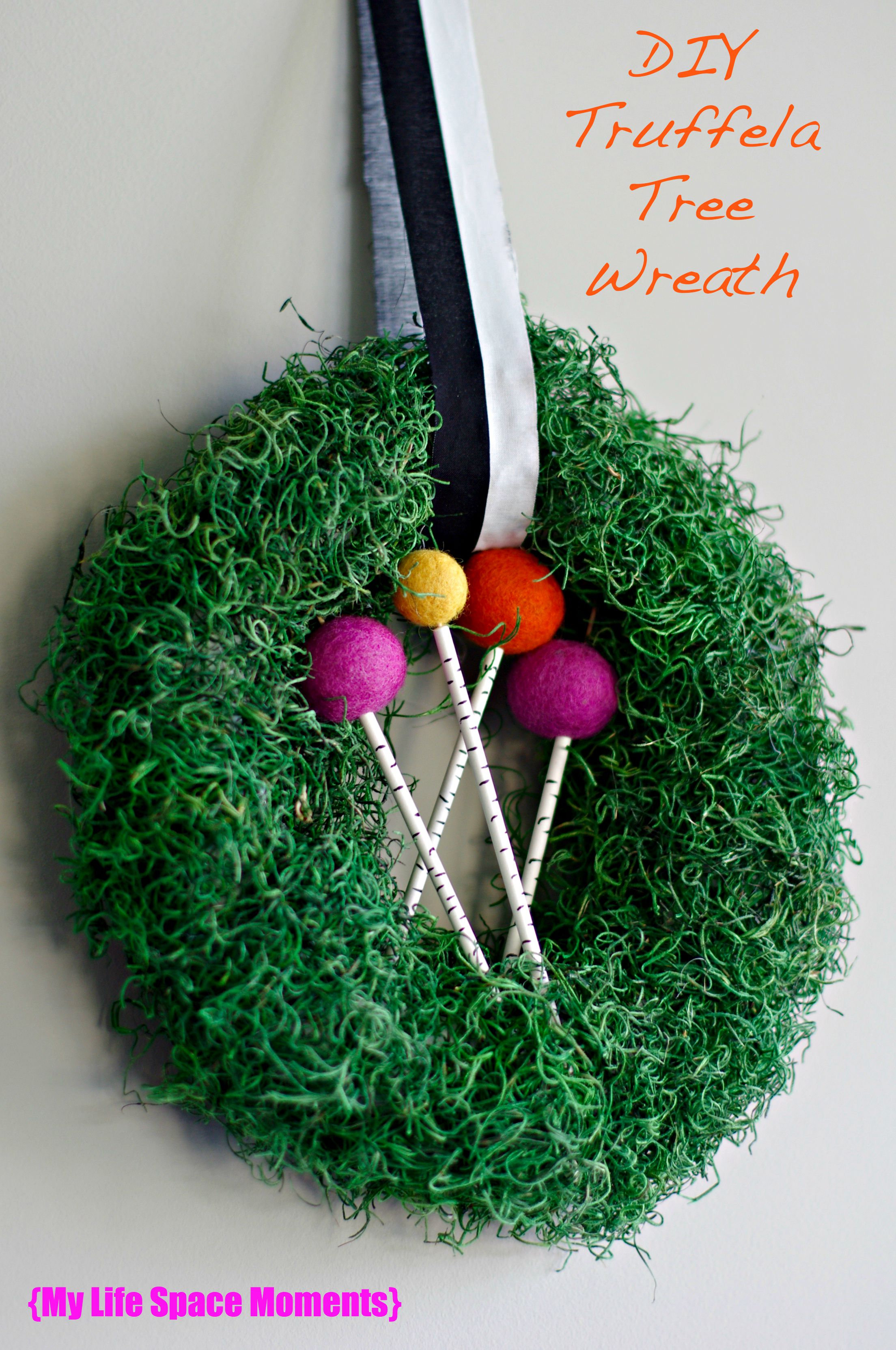 My DIY Truffela Tree Wreath Inspired by The Lorax - {My Life Space Moments}