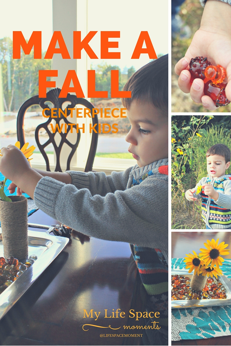 How to Make a Fall Centerpiece with Kids - Easy Peasy! | {My Life Space Moments}